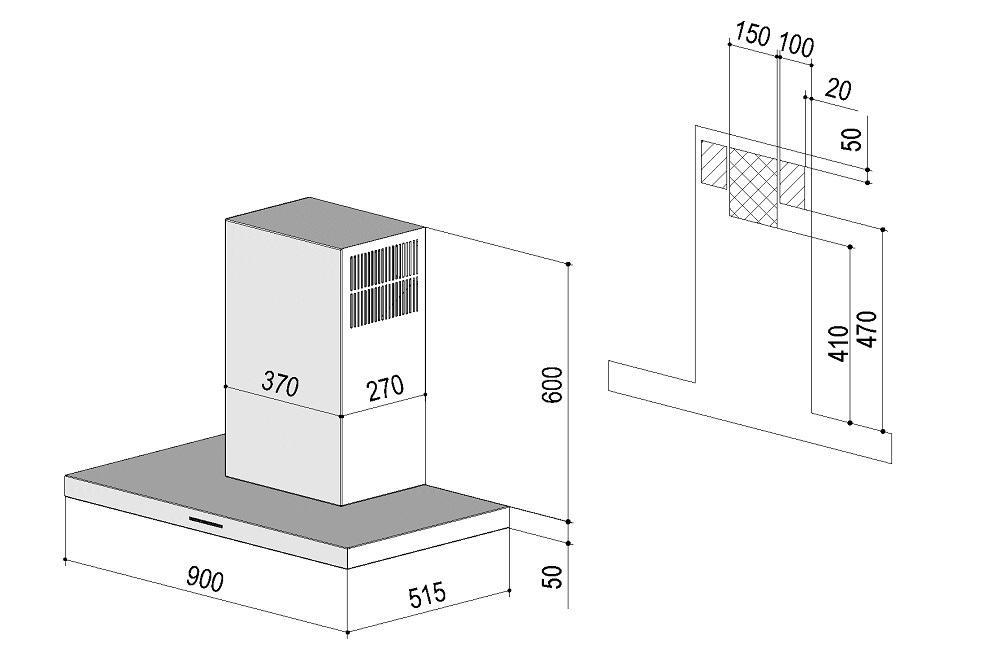 berbel wandhaube smartline kuechen boehm. Black Bedroom Furniture Sets. Home Design Ideas