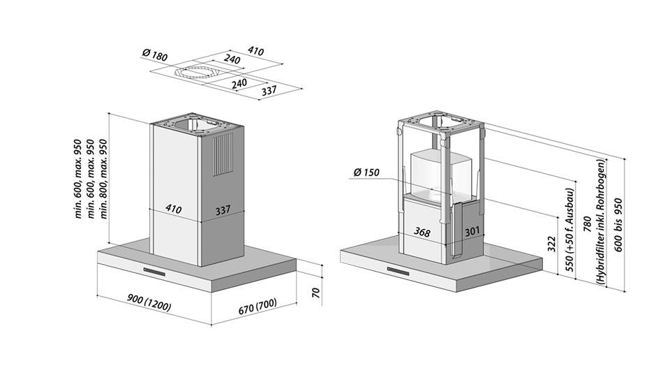 berbel inselhaube blockline kuechen boehm. Black Bedroom Furniture Sets. Home Design Ideas